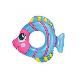 Bestway Dětský nafukovací kruh Bestway ve tvaru rybky modrý