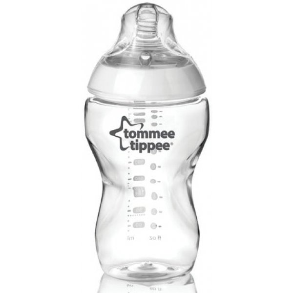 Tommee Tippee Kojenecká láhev C2N, 1ks 340ml, 3+m Transparent