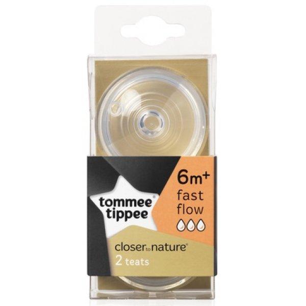 Tommee Tippee Náhradní savičky C2N rychlý průtok 6+, 2ks