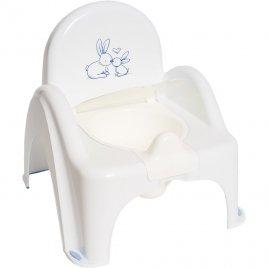 Tega Hrající dětský nočník s poklopem Bunny bílý