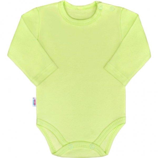 New Baby Kojenecké body s dlouhým rukávem New Baby Pastel zelené Zelená