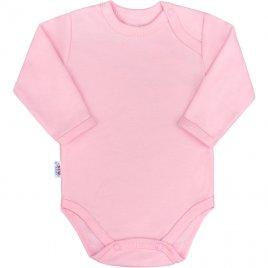 New Baby Kojenecké body s dlouhým rukávem New Baby Pastel růžové
