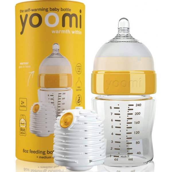 Yoomi 8oz Bottle/Warmer/Teats Y18B1W
