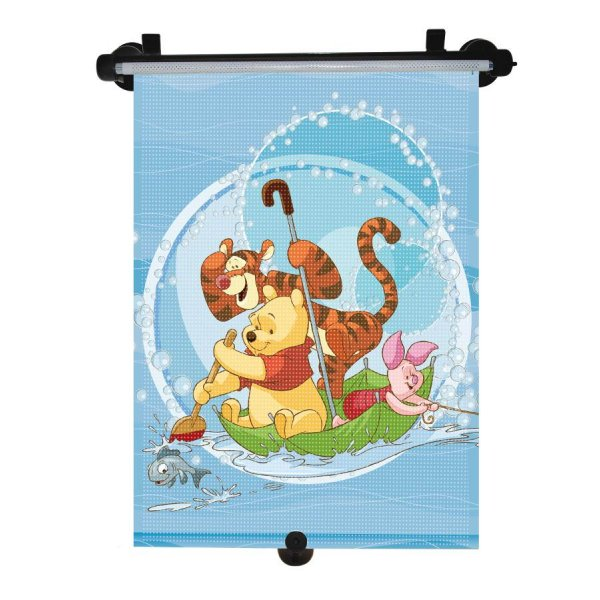KAUFMANN Sluneční roleta do auta Disney Winnie the Pooh Modrá