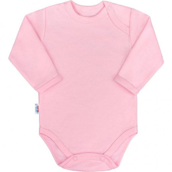 New Baby Kojenecké body s dlouhým rukávem New Baby Pastel růžové Růžová