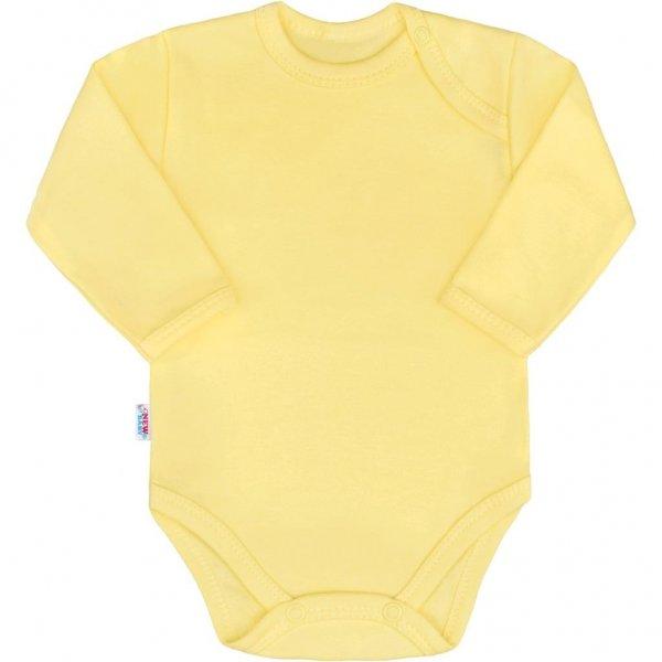 New Baby Kojenecké body s dlouhým rukávem New Baby Pastel žluté Žlutá