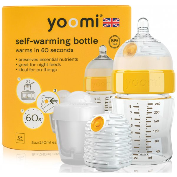 Yoomi 8oz Bottle/Warmer/Teat/Pod Y18B1W1P