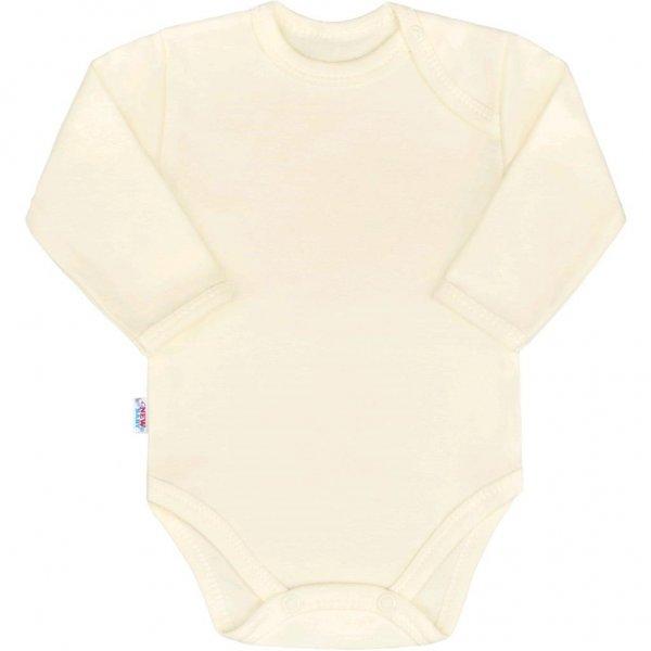 New Baby Kojenecké body s dlouhým rukávem New Baby Pastel béžové Béžová