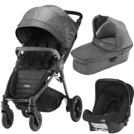 Britax B-MOTION 4 PLUS v setu s autosedačkou Black Denim