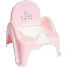 Tega Hrající dětský nočník s poklopem Bunny růžový