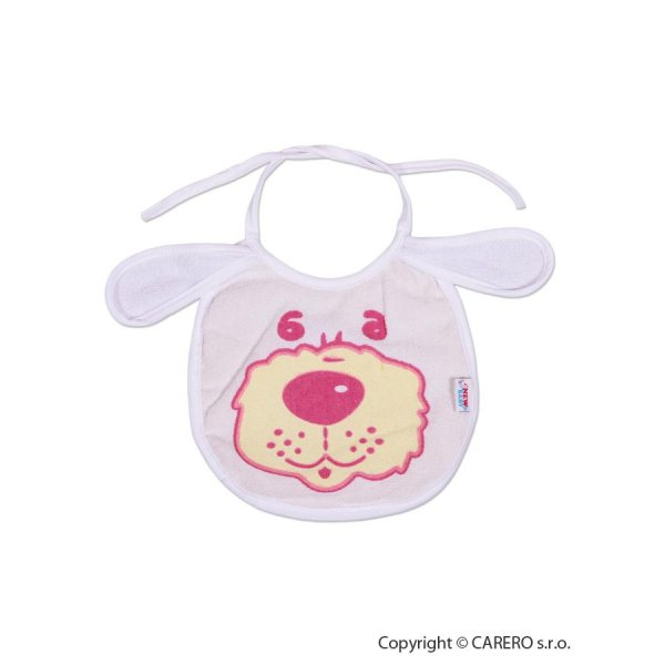 New Baby Dětský bryndák New Baby bílo-růžový Bílá