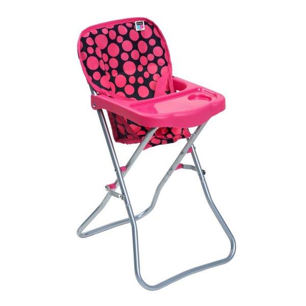 PlayTo Jídelní židlička pro panenky PlayTo Dorotka růžová Růžová