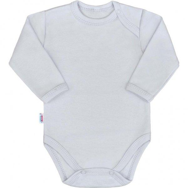 New Baby Kojenecké body s dlouhým rukávem New Baby Pastel šedé Šedá