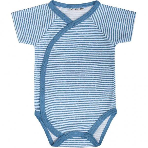 BABY SERVICE Dětské letní celorozepínací kojenecké body Baby Service Stripes modré Modrá