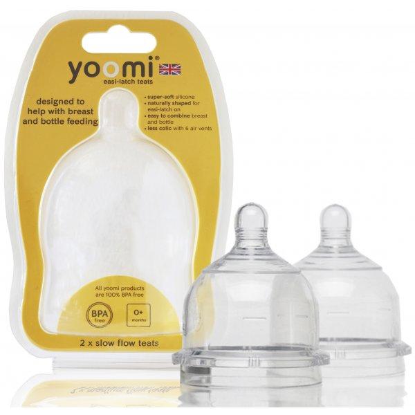 Yoomi Náhradní dudlíky na láhev - Pomalý průtok YSFT