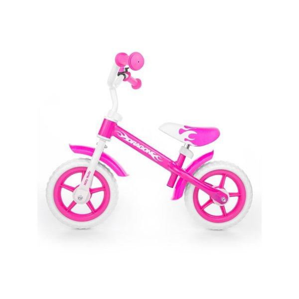 Milly Mally Dětské odrážedlo kolo Milly Mally Dragon pink Růžová