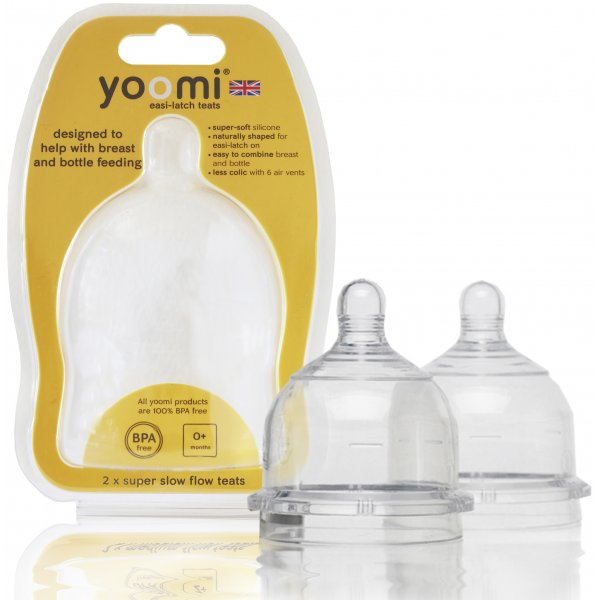 Yoomi Náhradní dudlíky na láhev - Extra pomalý průtok Y2SSFT