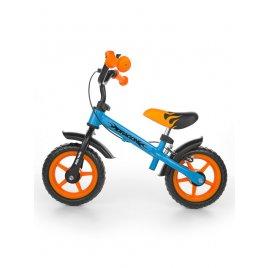 Milly Mally Dětské odrážedlo kolo Milly Mally Dragon s brzdou orange-blue