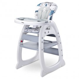 Caretero Jídelní židlička CARETERO HOMEE grey