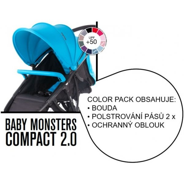 Baby Monsters COMPACT color pack Tyrkysový