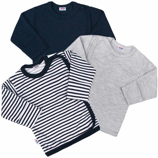 New Baby Kojenecká košilka New Baby Classic II Kluk 3ks
