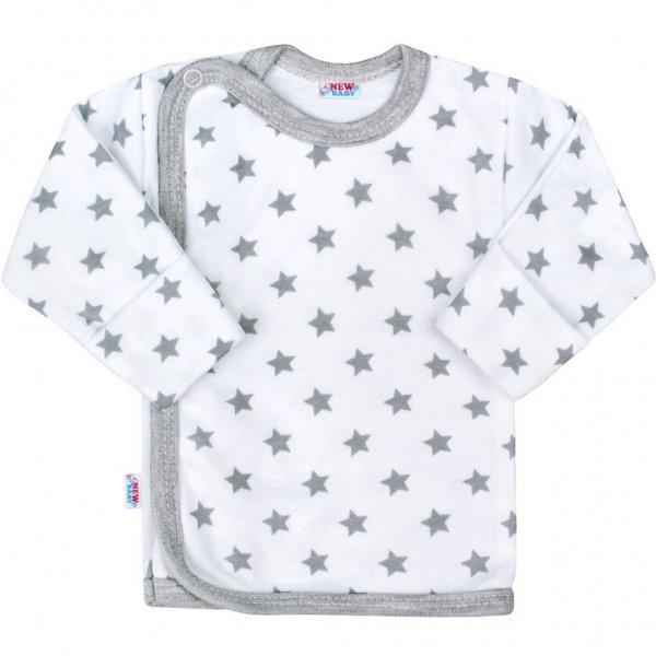 New Baby Kojenecká košilka New Baby Classic II šedá s hvězdičkami Šedá