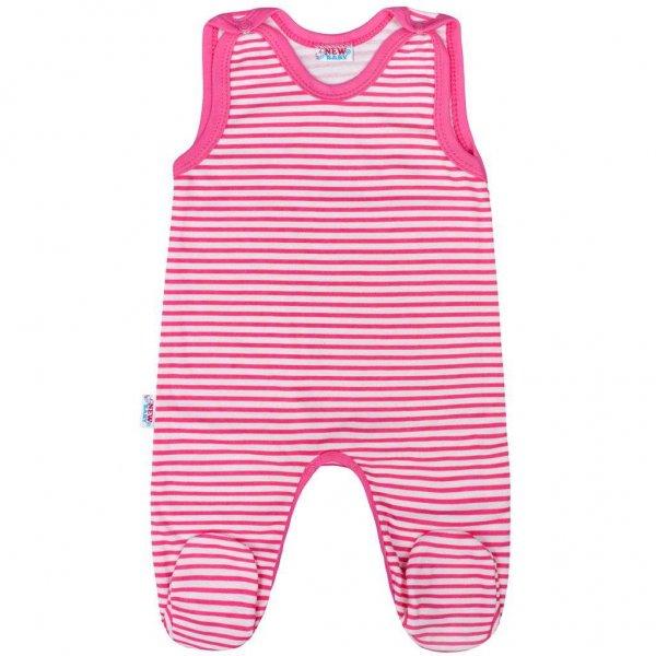 New Baby Kojenecké dupačky New Baby Classic II s růžovými pruhy Modrá