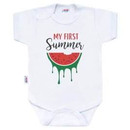 New Baby Body s potiskem New Baby My first Summer