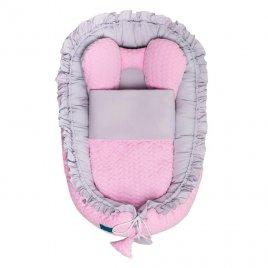 Belisima Luxusní hnízdečko s peřinkou pro miminko Belisima Králíček růžové