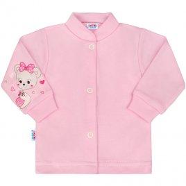 New Baby Kojenecký kabátek New Baby myška růžový