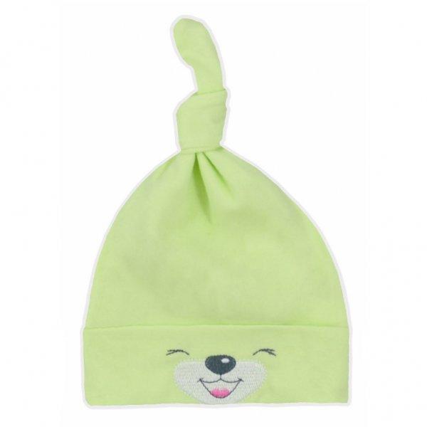 Bobas Fashion Bavlněná kojenecká čepička Bobas Fashion Lucky zelená Zelená