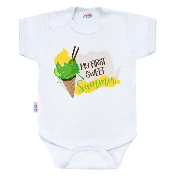 New Baby Body s potiskem New Baby MY FIRST SWEET Summer zelené Zelená