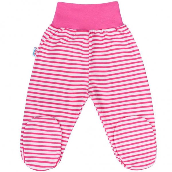 New Baby Kojenecké polodupačky New Baby Classic II s růžovými pruhy Růžová