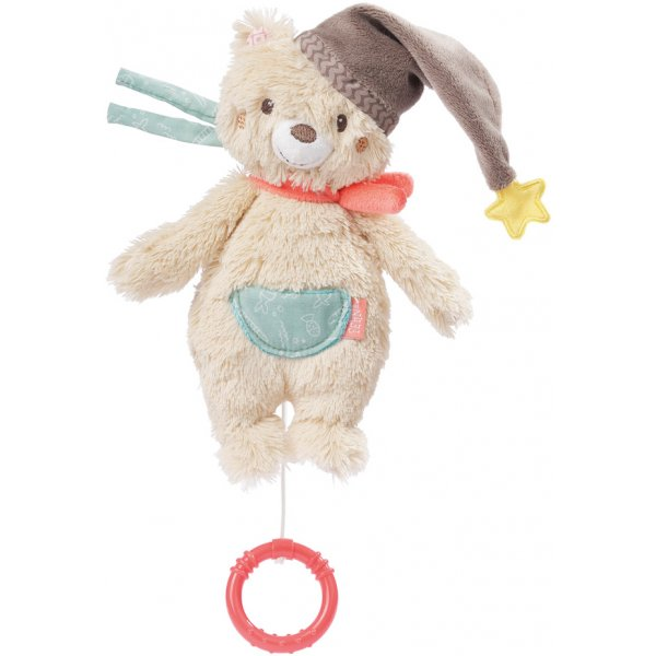 Baby Fehn Bruno Hrací hračka, mini méďa Béžová