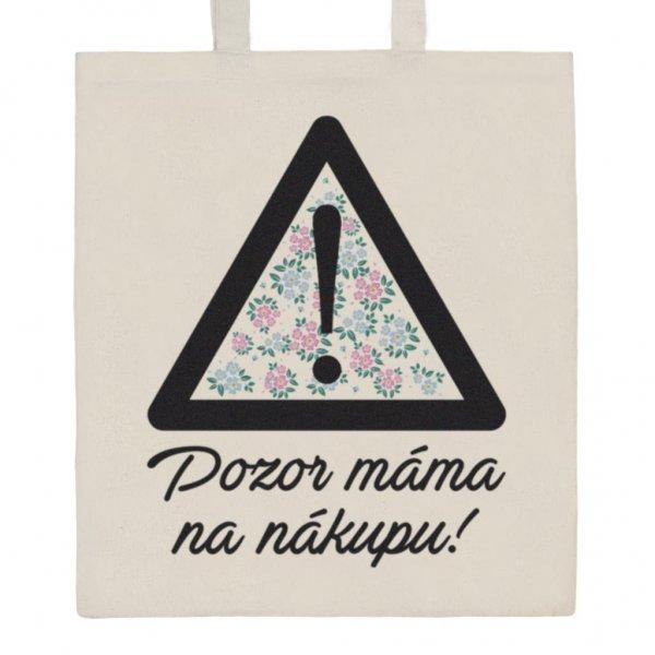 New Baby Bavlněná nákupní taška přírodní s potiskem New Baby Béžová