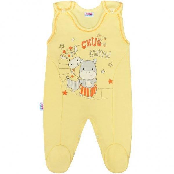 New Baby Kojenecké dupačky New Baby chug žluté Žlutá