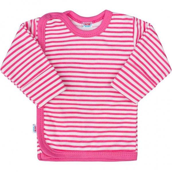 New Baby Kojenecká košilka New Baby Classic II s růžovými pruhy Růžová