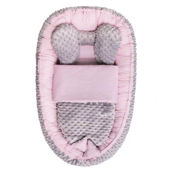 BELISIMA Hnízdečko s peřinkou pro miminko Minky Sweet Baby Belisima růžové Růžová