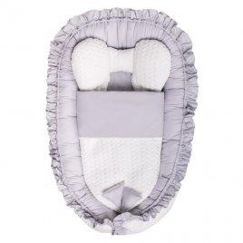 Belisima Luxusní hnízdečko s peřinkou pro miminko Belisima Králíček šedé