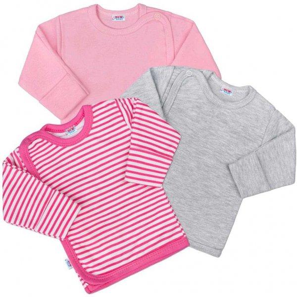 New Baby Kojenecká košilka New Baby Classic II Holka 3ks