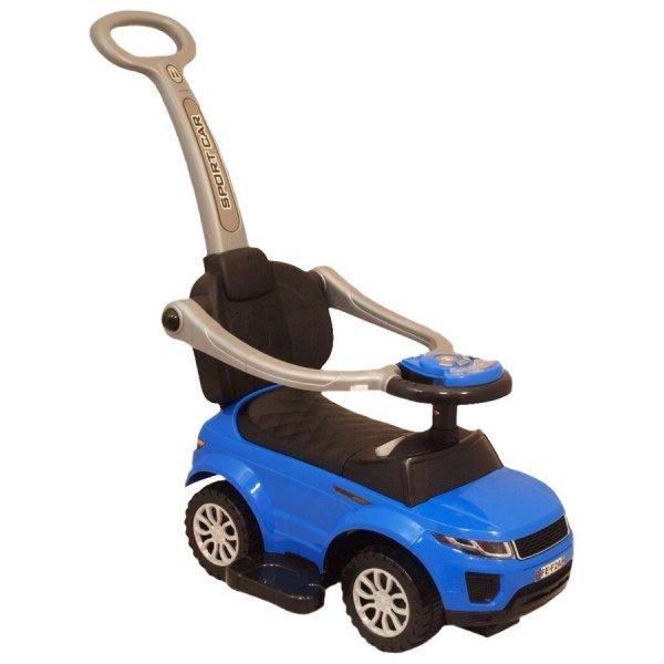 Baby Mix Dětské hrající jezdítko 3v1 Baby Mix modré Modrá