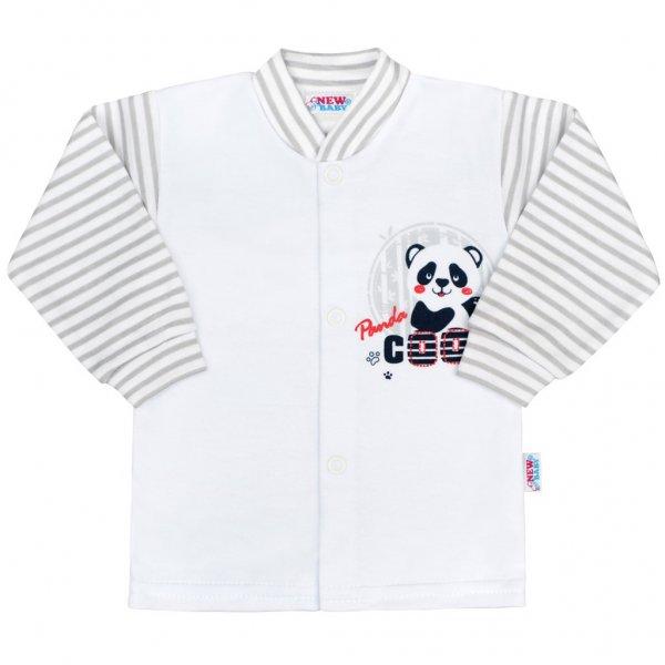 New Baby Kojenecký kabátek New Baby Panda Šedá