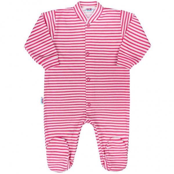 New Baby Kojenecký overal New Baby Classic II s růžovými pruhy Růžová