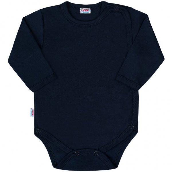 New Baby Kojenecké celorozepínací body New Baby Classic II tmavě modré Tmavě modrá