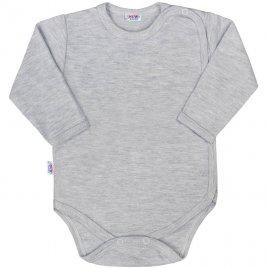 New Baby Kojenecké celorozepínací body New Baby Classic II šedé