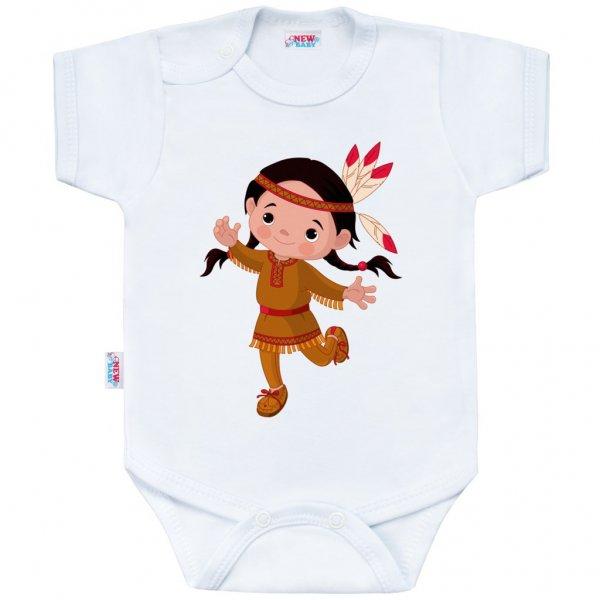New Baby Body s potiskem New Baby Indian Girl Bílá