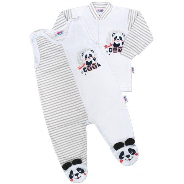New Baby Kojenecká souprava New Baby Panda Šedá