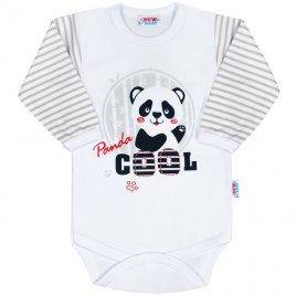 New Baby Kojenecké body s dlouhým rukávem New Baby Panda