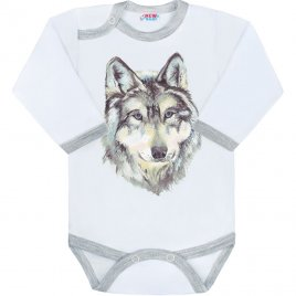 New Baby Body s potiskem New Baby Wolf