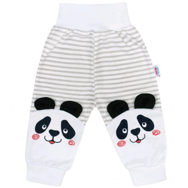New Baby Kojenecké tepláčky New Baby Panda Šedá